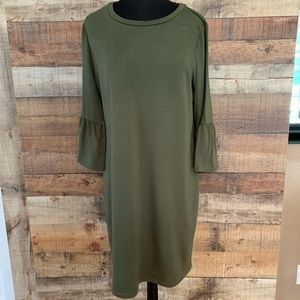 A.N.A. Olive green shift dress, size XL